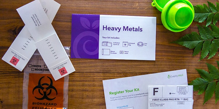 At-home Heavy Metals Test kit components