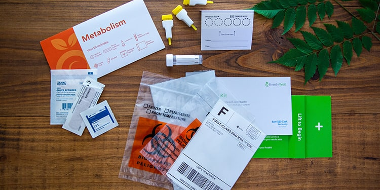 At-home Metabolism Test kit components