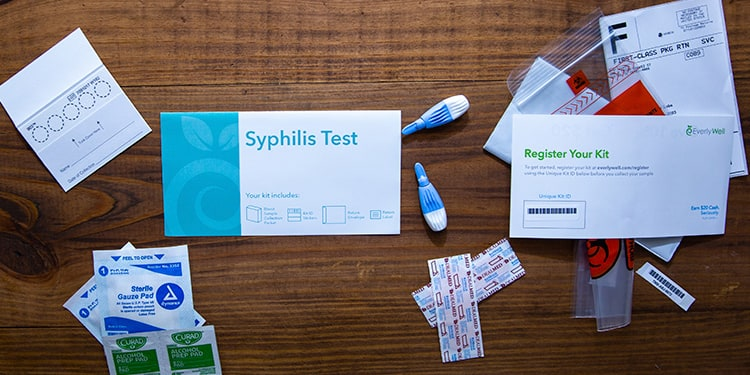 At-home Syphilis Test kit components