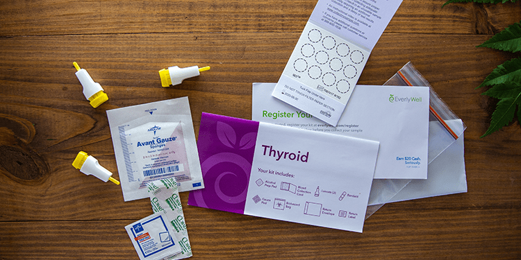 At-home Thyroid Test kit components