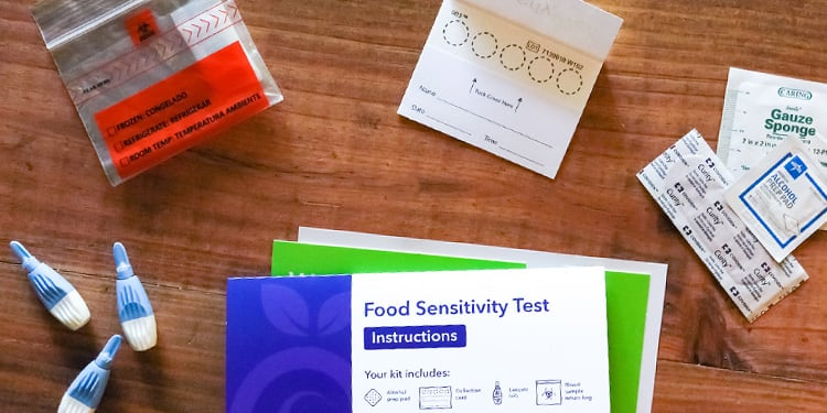 At home food sensitivity blood test kit components